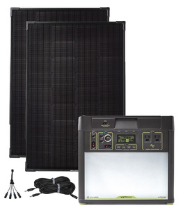 Goal Zero Yeti 3000 Lithium Solar Generator Kit with 2 Boulder 100 Watt Solar Panels - V2 with Wi-fi
