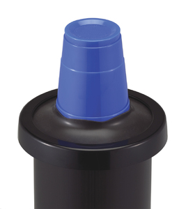 One Size Fits All EZ-Fit In-Counter Cup Dispenser - 8-46 Oz - Black Gasket
