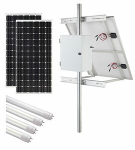 Internally Illuminated Solar Sign Kit (2-Sided) - 18,600 Lumens
