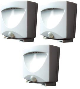 Motion Activated Outdoor Led Night Light - Set of 3 - Battery Operated