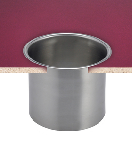 "Large In-counter Trash Chute - 6.6"" Diameter - Stainless Steel"