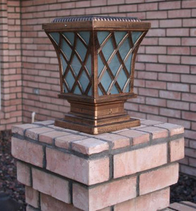 Premium Classic Solar Pillar Light In Bronze
