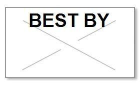 "Garvey GX2216 Pricing Labels (1 Case = 20 sleeves @ 9,000 labels/sleeve = 180,000 labels) - White/Black - ""Best By"""