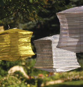 Silk Effects Solar Lanterns - Square