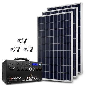 Apex Lightweight Silver Portable Solar Generator Kit