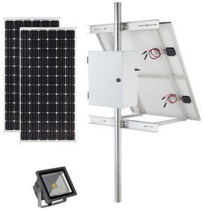 Earthtech Products Solar Sign & Landscape Light Kit - 1 Light (3600 Lumens), 2 - 100W Solar Panels, 140 Ah Battery