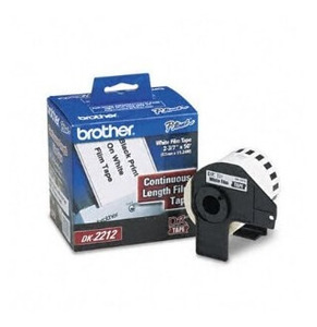 Brother DK-2212 Continuous Length White Film Tape for QL-500/QL-550