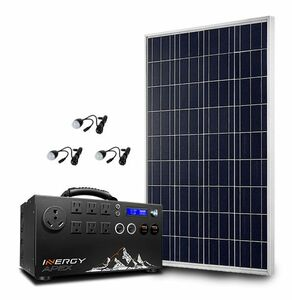 Inergy Apex Lightweight Bronze Portable Solar Generator Kit