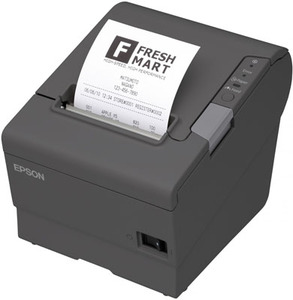 Epson TM-T88V, Thermal Receipt Printer, Epson Cool White, USB & USB With Db9 Serial Interfaces, PS-180 Power Supply, Requires A Cable