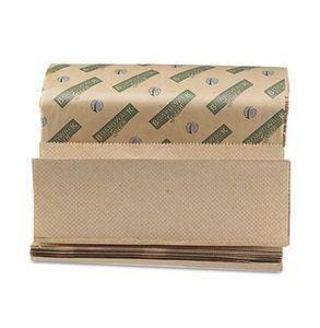 Boardwalk Green Folded Towels Multi-Fold Natural 9 1/8W x 9 1/2L 200/Pack 20/Carton