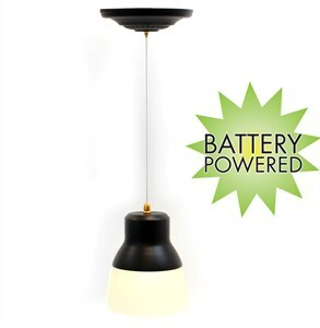 EZ Pull Pendant Light with Remote Control - Light Bronze