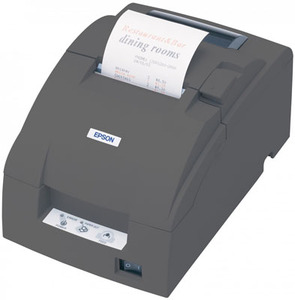 Epson TM-U220B - Impact/Receipt Printer, Compact Flash Wireless 802.11a/B/G/N (R04), Dark Gray, Autocutter, Power Supply Included