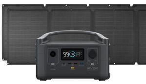 EcoFlow River 600 Portable Solar Generator Kit - With (2) 110 Watt Solar Panels