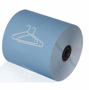 "3 1/8"" x 165'  (80mm x 50m)  Dry Cleaning Heavy Thermal Paper  (50 rolls/case) - Blue"