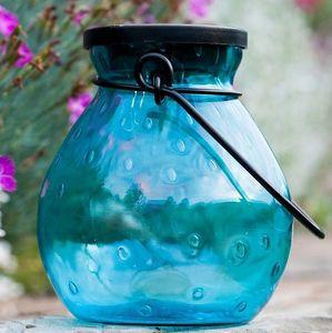 Bubble Glass Solar Lantern - TURQUOISE