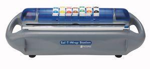 Saf-T-Wrap Station - Film, Foil & Date Label Dispenser w/ Slide Cutter
