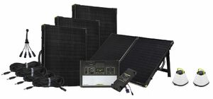 Yeti 1400 Lithium Maximum Solar Intake Kit with MPPT and 4 Boulder 100 Briefcases + Free Emergency Crush Lights
