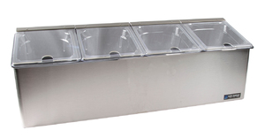 EZ-Chill Self Service Center - (4) 1/6 Pans, (4) Notched Lids, (1) Ice Liner