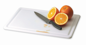 Kolor-Cut Grooved Cutting Board - White