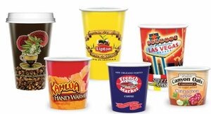 Printed Paper Cups - Hot 12oz.