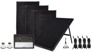 Goal Zero Yeti 1400 Lithium Maximum Solar Intake Kit with Free Emergency Crush Lights - 4 Boulder 100 Panels - V2 with Wi-fi