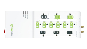 12 Outlet Advanced PowerStrip - 4320 Joules - Surge Protection - with Secondary Protection for TVs and PCs