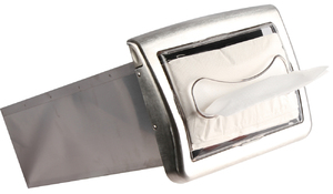 Venue In-Counter Napkin Dispenser - Fullfold - Clear/Satin Chrome
