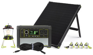 Goal Zero Yeti 400 Lithium Solar Camping Base Camp Kit