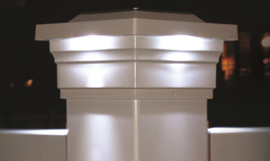 "Majestic White Solar Post Cap for 5"" x 5"" Posts"