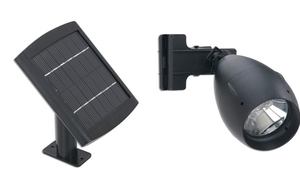 Solar Floodlight with Clamp Mount
