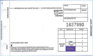 "2-Part SHORT (3 1/4"" x 5 11/32"") Sales Imprinter Slips (100 slips/pack) - Truncated"
