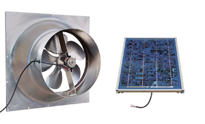 Gable Mounted Solar Attic Fan - 10 Watts - 1200 sq ft