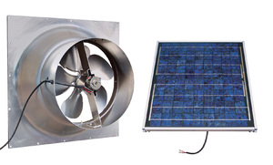 Gable Mounted Solar Attic Fan - 20 Watts - 2000 sq ft