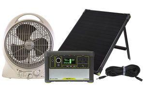 Goal Zero Yeti 400 Lithium Solar Generator with Cooling Fan and Ventilation Kit