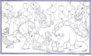 "8 1/2"" x 14"" Restaurant Coloring Sheets (500 per pack) - Dinosaur Theme"