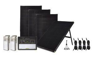 Goal Zero Yeti 1400 Lithium Maximum Solar Intake Kit with Free Emergency Light Center - 4 Boulder 100 Panels - V2 with Wi-fi