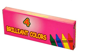 Boxed 4-Pack Crayons Premium Quality (250 Packs)