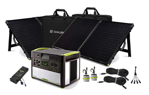 Goal Zero Yeti 1400 Lithium Power Station with MPPT and 2 Boulder 100 Solar Briefcases - V2 with Wi-fi