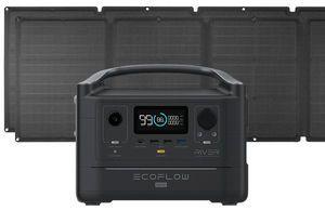 EcoFlow River 600 Max Portable Solar Generator Kit - With (2) 110 Watt Solar Panels