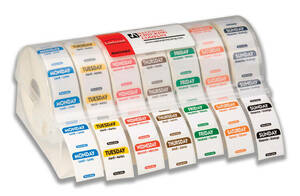 "1"" x 1"" Trilingual Removable Labelocker Kit (Mon. - Sun.)"