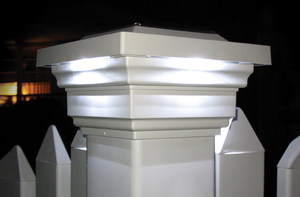 Regal White Solar Post Cap for 4x4 Posts
