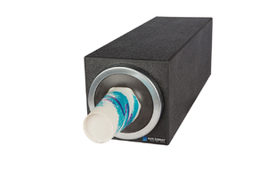 EZ-Fit Bev Dispenser Cabinet - (1) C2410C w/Metal Finish Trim Ring