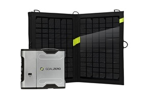 Sherpa 50 Solar Recharging Kit with 13 Watt Nomad Solar Panel and AC Inverter