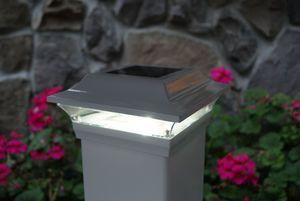 "Imperial White Solar Post Cap for 5"" x 5"" Post"