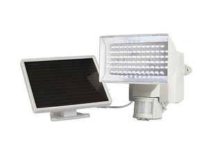Motion-Activated 80-LED Solar Security Floodlight