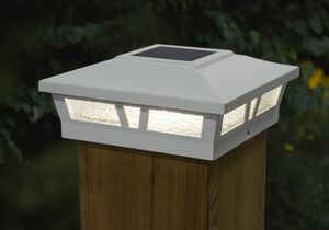 Aluminum Oxford Solar Post Cap - For 6 x 6 Square Posts