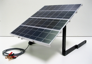 On-the-Go Portable 50 Watt Solar Charging Kit for 12 Volt Batteries
