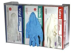 Plexiglass Triple Box Glove Dispenser