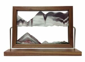 Walnut Landscape Sand Art by Klaus Bosch - 15-1/2 x 9-3/4 Inches