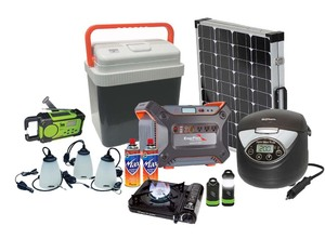Earthtech Products 1200 Lightweight Solar Generator 12V Max Survival Kit